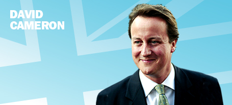 Image of David Cameron taken from the Con Party Website