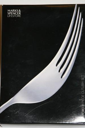 M & S Cutlery Box